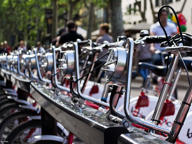 Barcelona, Spain's bicycle sharing system, Bicing. Photo by IluriPhoto/Flickr.