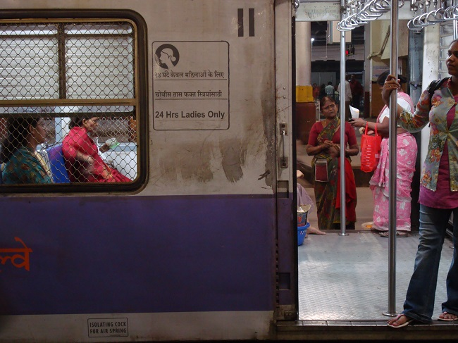 Separate subway cars allow women safe access to transport in Mumbai, India. Photo by ezola/Flickr.