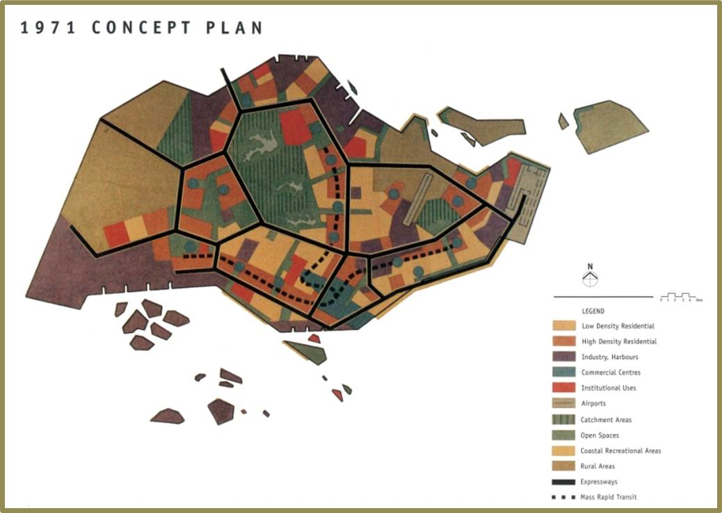 Singapore'a 1971 Concept Plan. Source: Government of Singapore.