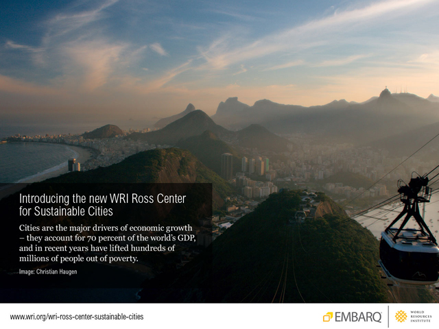 Introducing the WRI Ross Center for Sustainable Cities. Photo by Christian Haugen.