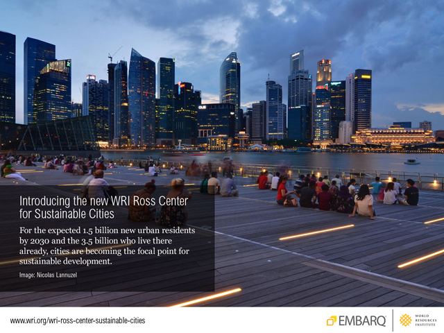 Introducing the WRI Ross Center for Sustainable Cities. Photo by Nicolas Lannuzel.