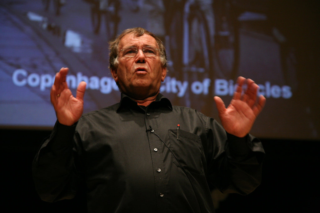 Jan Gehl has traveled across the world to give lectures to urban planners and city leaders about the potential of people-centered building to radically alter cities for the better. Photo by Gene Driskell/Flickr.