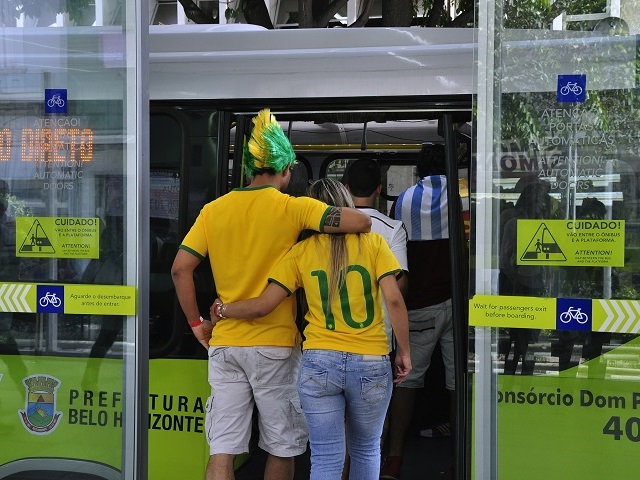 Although Brazil has taken criticism for World Cup infrastructure investments, examples like Belo Horizonte's MOVE bus rapid transit (BRT) system show how a project can serve visitors and also provide lasting impacts for the people of Brazil. Photo by Mariana Gil/EMBARQ Brazil.