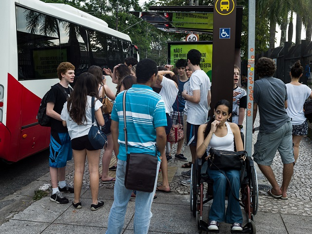 Though progress has been made, cities worldwide must continue to implement universal design solutions that make transport services accessible for disabled persons. Photo by Igor Schutz/Flickr.