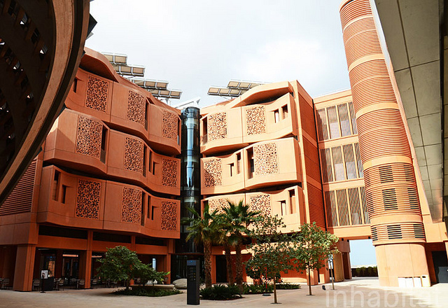 """Masdar City broke ground in 2008, and aims to provide a """"greenprint"""" for how cities can reduce resource usage and accommodate growth. Photo by Inhabitat blog/Flickr."""