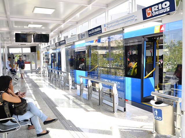 A BRT station in Rio