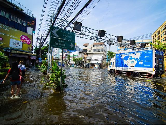 River Flooding in Bangkok, Thailand
