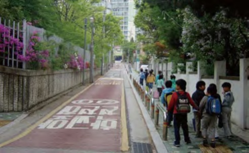 Children on a Street in Seoul