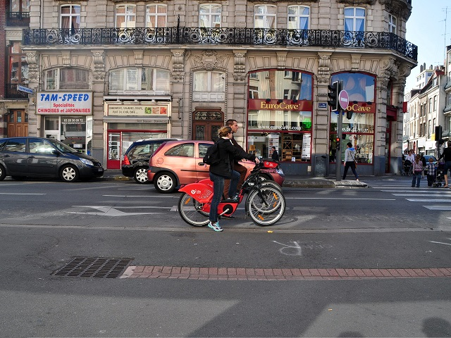 Biking in Lille, France
