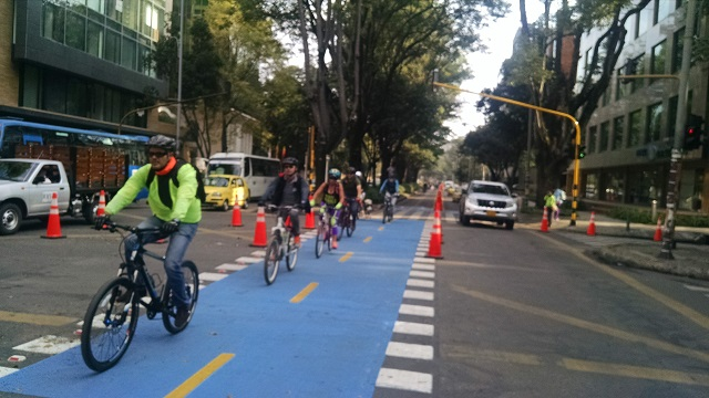 The New Bike Lane on Bogota's Carrera 11